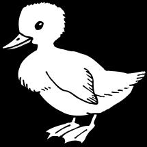 patos bebes para colorear
